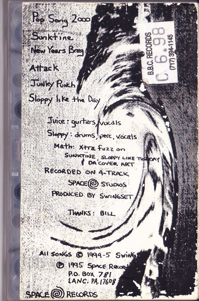 "The original Swingset demo, later ""officially"" released by Fischer, and eventually canonized as Unread #1. Note that the demo's (vanity) label was listed as ""Space Records."""